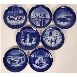 Royal Copenhagen Christmas Plates - Seven plates: 1984, 1985,1986, 1987,1988,1989,1990 Lot 1 of 3  (