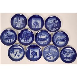 Royal Copenhagen Christmas Plates - Eleven plates for ten years: 1991,1992,1993,1994,1995,1996,1997,