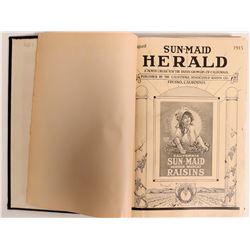 Fresno Sun-Maid Herald Bound Volume  (113048)