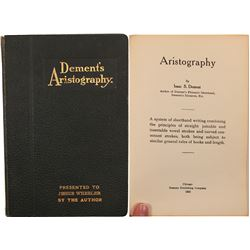 Book / Dement's Aristography / 1st Edition.  (106241)