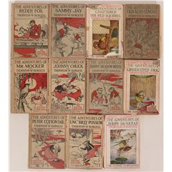 Childrens Books- A Collection of  The Bedtime Story-Books, Burgess Trade Quaddies Mark  by Author, T