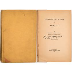 Selection of Cases on Agency, by Eugene Wambaugh, LLD  (114149)