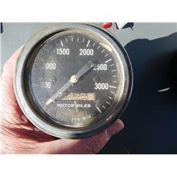 Pressure gauge, motor miles  (114229)