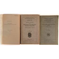 U.S.G.S. Arizona Mining Publications (3) Bulletins 397, 582, and 743 -   (116269)