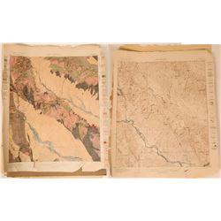 Arizona Ray Quadrangle Areal Geology & Topography Maps (2 Maps)  (110380)