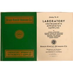 1950 Catalog Book   Braun - Knecht- Heimann Co.,  book of Laboratory Instruments, Apparatus & Suppli