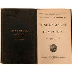 California State MIning  Bureau Bulletin No. 9 - 1896 Mine Drainage, Pumps, Etc.  (116278)