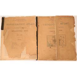 Three California USGS Folios Plus a Rare Topographic Atlas  (115321)