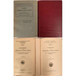 U.S. G.S. Guide Books of the Western U.S.  (with Geologic & Topographical Maps) - 3 books: The Shast
