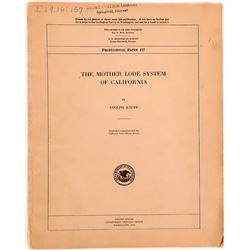The Mother Lode System of California , U.S.G.S. Professional Paper No. 157  (116259)