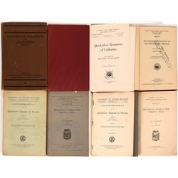 Publications on the Mining of Quicksilver (4)Books ; Quicksilver Resources of California Bulletin 78