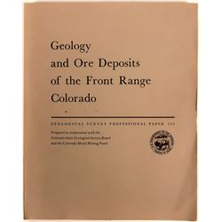 Geology and Ore Deposits of the Front Range, Colorado - U.S.G.S. Professional Paper 223 -1950  (1162