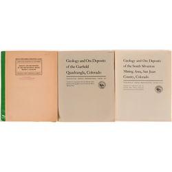 U.S.G.S. Mining Reports (3) Geology and Ore Deposits of the Garfield Quadrangle , Colorado-1957 Prof