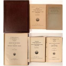 U.S.G.S Publications on Idaho MIning & Geology (3) 1917, 1924 and 1947  (116292)