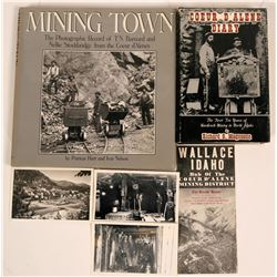 Coeur d  Alenes Mining District, Idaho - collection of 4 items; Mining Town book, Diary, Post Cards,