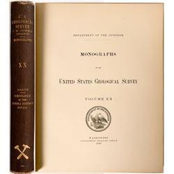Geology of the Eureka District, Nevada, USGS Vol XX  (112120)