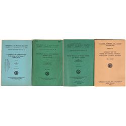 Nevada State Bureau of Mines (N.S.B.M) Publications Part 2 (4)  years: 1943, 1947, 1948, 1960  (1162