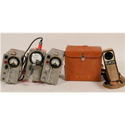 "Four ""Geiger Counter"" Scintillometers  (116196)"