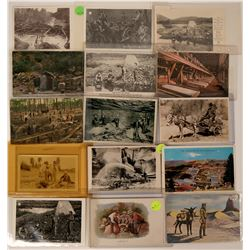 Mining group post cards (lot 10)  (115118)