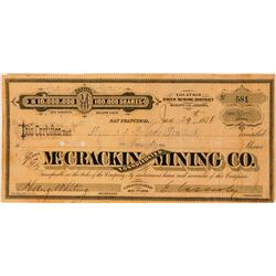 McCrackin Consolidated Mining Co. Stock Certificate  (116125)