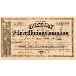 Orion Silver Mining Company Stock Certificate  (116128)