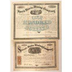Specie Basis Mining Company Stock and Bond  (90528)