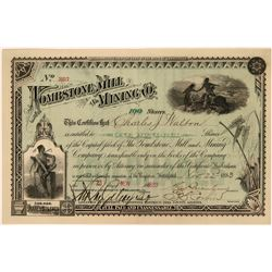 Tombstone Mill and Mining Company Stock Certificate  (116129)