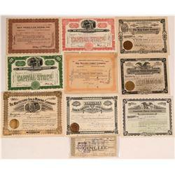 Group of 10 Arizona Mining Stocks  (116956)