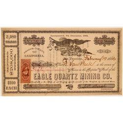 Eagle Quartz Mining Company Stock Certificate  (107727)