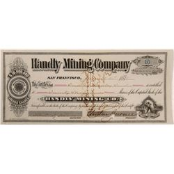Handly Mining Stock Certificate  (106222)