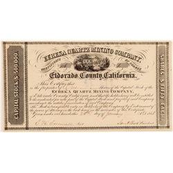 Eureka Quartz Mining Company Stock Certificate  (106943)