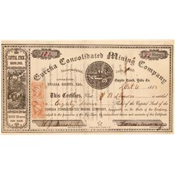 Eureka Consolidated Mining Company Stock Certificate  (106942)