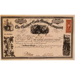 Garner Gold Mining Company Stock Certificate  (106974)