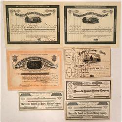 California Mining, Railroad & Bank Stock Group  (116973)