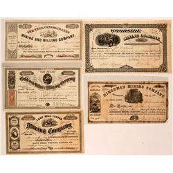 California Mining Stock Group (Silver Mountain, El Dorado, Del Norte)  (116979)