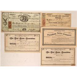 California Mining & Other Stock Group (Pasadena, Del Norte)  (116977)