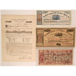 Rare California Mining Stocks  (116980)