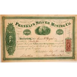 Franklin Silver Mining Company Stock Certificate  (107421)