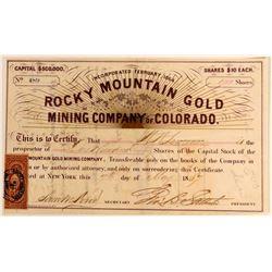 Rocky Mountain Gold Mining Co. of Colorado  (110843)