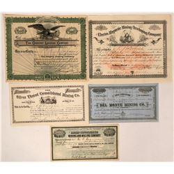 Colorado Mining Stocks (Silver Thread, Del Monte)  (116985)