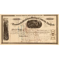 Harmon Gold & Silver Mining Company Stock Certificate  (107428)