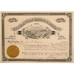 Etowah Gold Mining Company Stock Certificate  (106961)