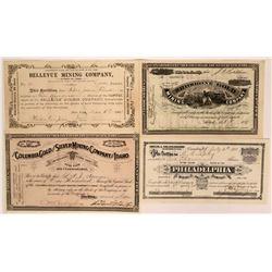 Four Different Idaho Mining Stocks   (116952)