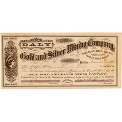 Daly Gold & Silver Mining Company Stock Certificate issued to Daly  (106937)