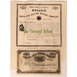 Idaho Mining Stocks & Bond  (116954)