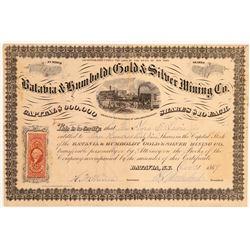 Batavia & Humboldt Gold & Silver MC Stock  (108103)