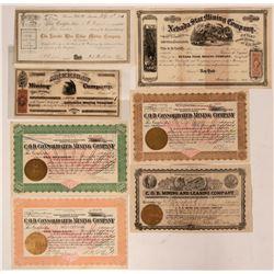 Seven Nevada Mining Stocks (Comstock, Elko, Goldfield, Humboldt)  (116965)