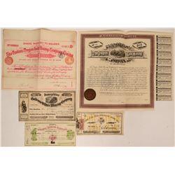 Oregon Mining Stocks & Bonds including 1860s  (116950)