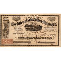 Cordillera Gold & Silver Mining Co. Stock Certificate  (116709)
