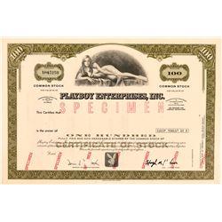 Playboy Enterprises Specimen Stock Certificate  (112233)